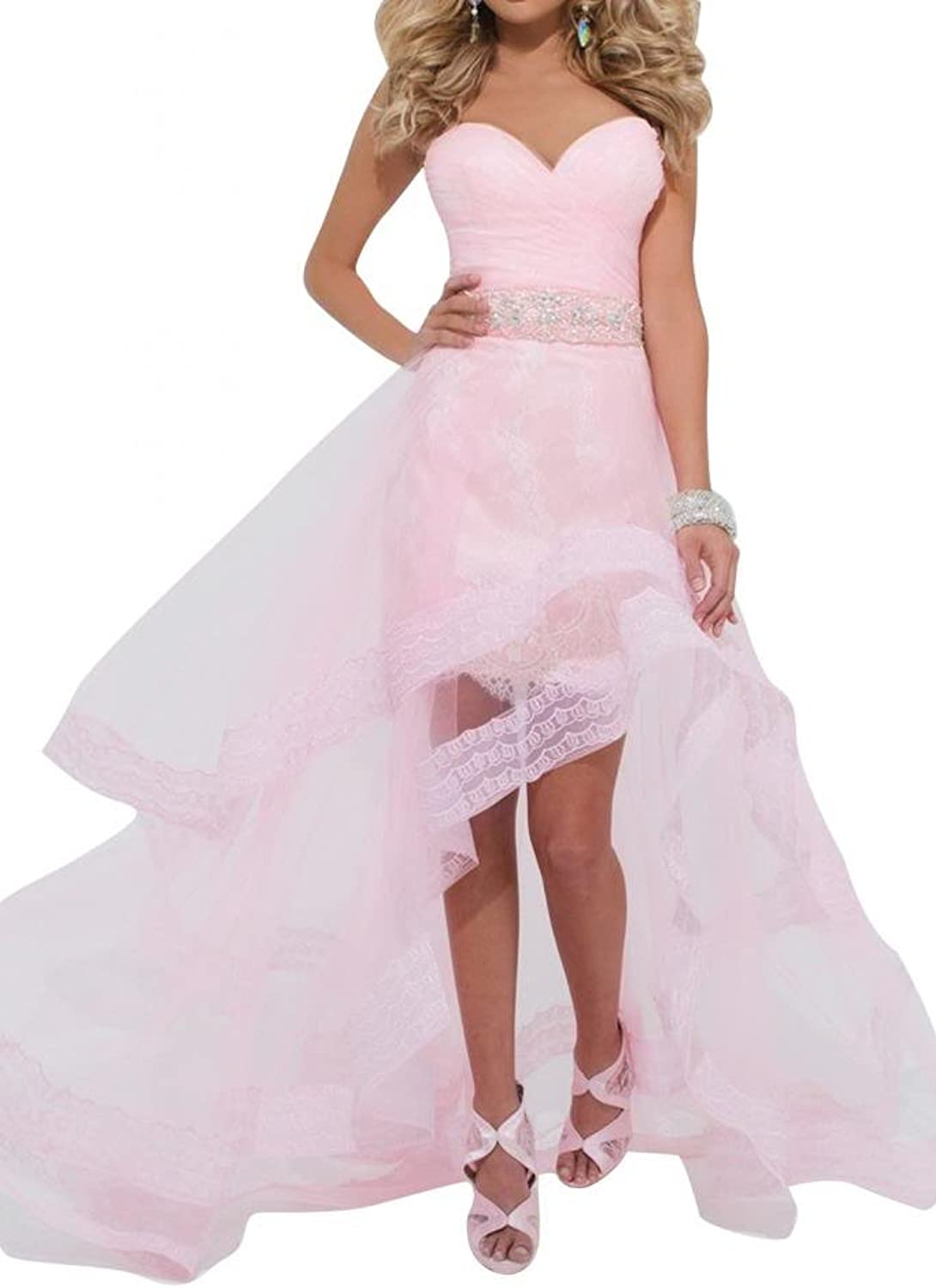 Angel Bride HiLo Homecoming Evening Dresses Tulle Party Cocktail Dresses