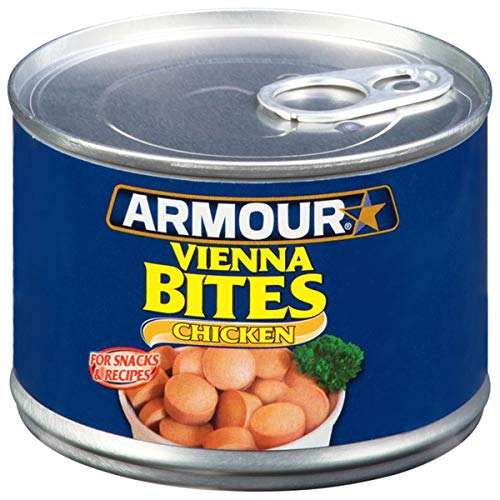 Armour Star Chicken Vienna Sausage Bites, Canned Sausage, 10 OZ (Pack of 12)