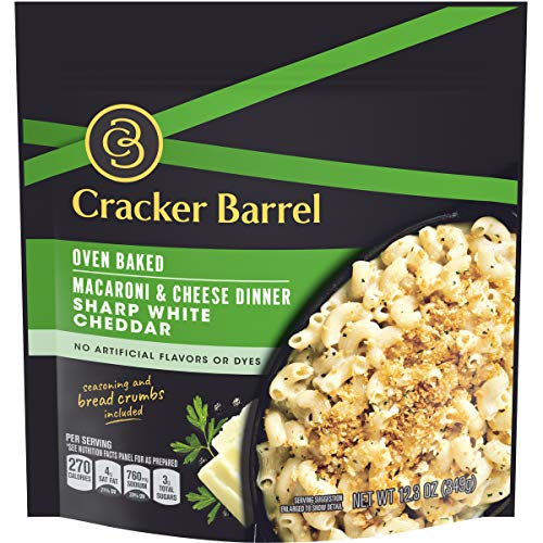 Cracker Barrel Oven Baked Sharp White Cheddar Macaroni and Cheese Dinner 123 oz Pouch