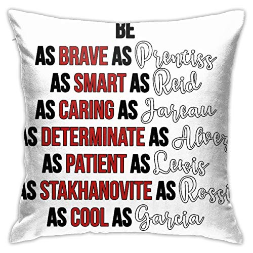HATUO Criminal Minds Bedroom Throw Pillow Covers Home Decorative Couch Sofa Square Pillow Case 18x18 in
