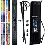 York Nordic Hiking & Walking Poles - Cushion Foam Hiking Grips - Lightweight, Adjustable, and Collapsible -2 Pieces Adjustable w/flip Locks, Detachable feet and Travel Bag (Grey/Black)