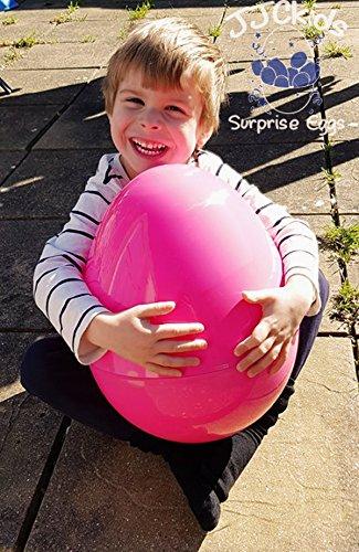 JJCkids Huevo Gigante de plástico Listo para Rellenar con Juguetes para cumpleaños o Navidad para niños y niñas tamaño Grande