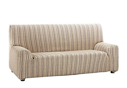 Martina Home Mejico - Funda de sofá elástica, Beige, 4 Plazas, 240 a 270 cm de ancho
