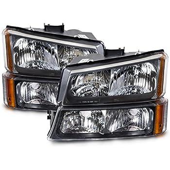New Depo Driver /& Passenger Side Headlight Set For 03-04 Chevrolet Silverado