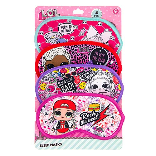 LOL Surprise Party Supplies, Party Favors Collection - 4 Pack Sleep Masks