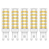 5X G9 LED de Bombillas 7W LED Lámpara 76 SMD 2835LEDs Bombilla Lámpara Blanco Cálido 3000K Super Brillante 650LM LED Bulb AC220V-240V