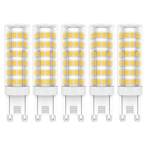5X G9 LED Lamps 7W LED Lampadine Bianco Caldo 3000K LED Luce Lampada 76 SMD 2835LEDs Super Luminosa 650LM Lampadina LED AC220V-240V