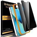 UniqueMe 2 Pack Privacidad Protector de Pantalla compatible con iPhone 13 mini, [Fácil instalación] [Sin Burbujas] [antiespía] [Antirasguños]