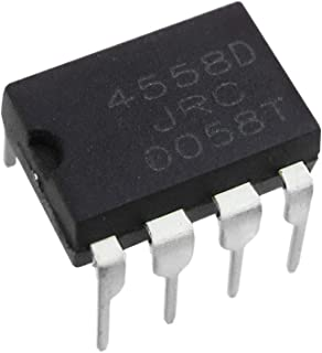 Fevas 10PCS JRC4558 4558 4558D DIP-8 Integrate IC Chip Dual Operational Amplifier Original and New