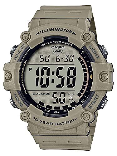 Casio Unisex-Erwachsene Digital Quartz Uhr mit Kunststoff Armband AE-1500WH-5AVEF