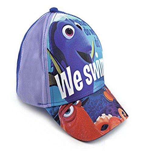 Jungen Mädchen Kinder Disney Findet Nemo und Dory Baseballmütze mit Sonnenschirm, mehrfarbig