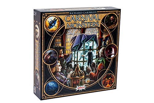 Richard Garfield's Carnival of Monsters Deck Building & Set Collecting Board & Card Game — Explore Magical Lands & Gather Exotic Beasts — 240 Cards
