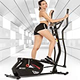 ANCHEER Elliptical Machine, Quiet & Smooth Magnetic Elliptical Cross Trainer Machine with LCD Monitor and Pulse Rate Grips, Best Elliptical Exercise Machine Trainer for Home GymOffice Workout