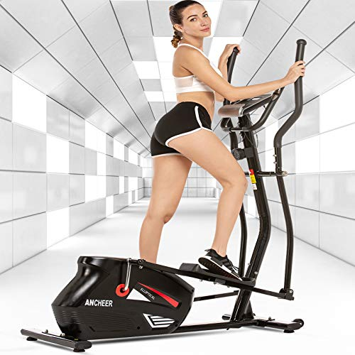 ANCHEER Elliptical Machine, Quiet & Smooth Magnetic Elliptical Cross Trainer Machine with...