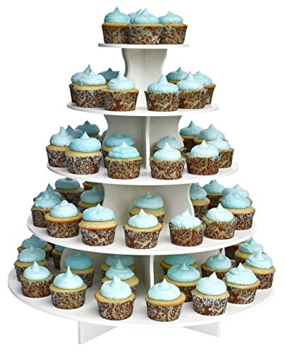 5-tier Round Dessert Stand Is Ideal for Parties, Holidays, Weddings, and Other Get-togethers