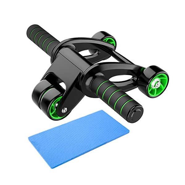 GIMCALO Ab Roller for Abs Workout, Four-Wheel Ab Roller Wheel Exercise Equipment for Core Workout, Ab Wheel Roller for Home Gym, Ab Workout Equipment for Abdominal Exercise