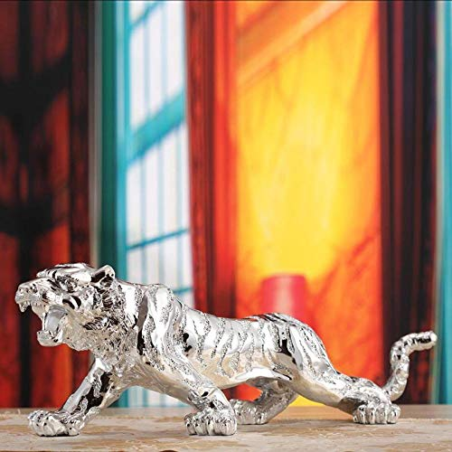 WPXBF Figurine Animal Statue Ornaments Tiger Sculpture Statue Gifts Crafts Home Decor Ornament Resin Tiger Figure-B_30*10 * 11Cm