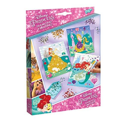 TOTUM 44227 - Kit de pintura de diamante para decorar tus princesas con brillantes, multicolor , color/modelo surtido