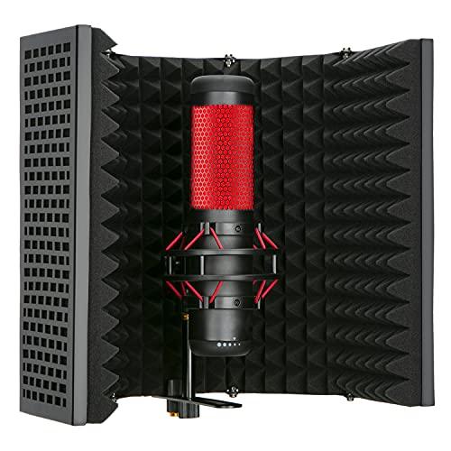 Escudo de Aislamiento de Micrófono Absorbente de Alta Densidad Utilizado para Filtrar la Voz para Blue Yeti y Otros Equipos de Grabación de Micrófono por YOUSHARES(5 Paneles)