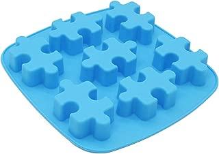 X-Haibei Puzzles Shape Chocolate Jello Wax Tart Crayon Silicone Soap Making Mold Supplies