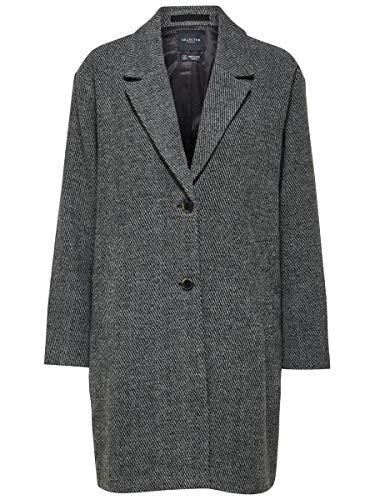 SELECTED FEMME SLFMISSA Coat B Abrigo de Lana, Negro, 38 para Mujer