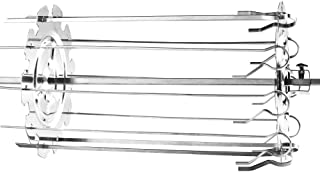 YUZHE 10 Fork Steel Metal Roaster Rotisserie Skewers Needle Cage Oven Kebab Maker Grill Barbecue Supplies