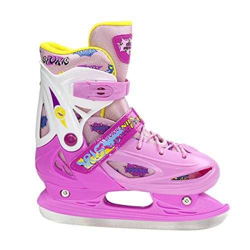 Schlittschuhe Hockeyschlittschuhe Eiskunstlaufschlittschuhe Eislaufen EIS NH1105 (Rosa, M)