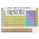 KIMDFACE Rompecabezas Puzzle 1000 Piezas,Lista de Elementos de la Tabla periódica,Puzzle Educa Inteligencia Jigsaw Puzzles para Niños Adultos