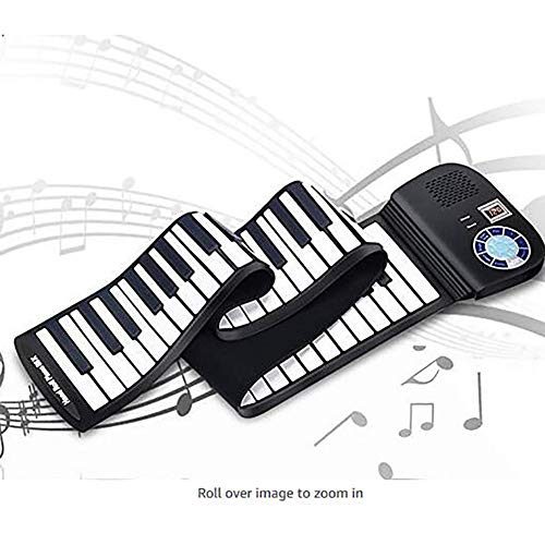 LJRdg Hand Roll Piano Keyboard 88 Teclas, Teclado Electrónico Hand Roll Piano, Silicona Flexible Plegable Recargable Hand Roll Piano Key Board Instrumentos Musicales para Entretenimiento