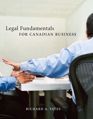 Legal Fundamentals for Canadian Business
