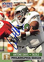 Autograph 124860 Philadelphia Eagles 1991 Pro Set No. 737 Antone Davis Autographed Football Card