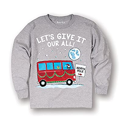 Pete the Cat Give It Your All!-Toddler Long Sleeve TEE Athletic Heather