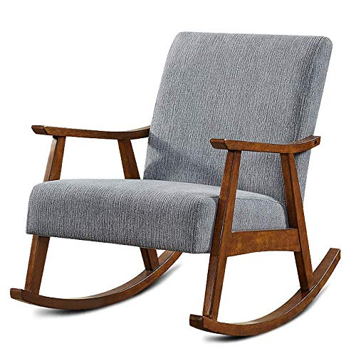 LLSS Schaukelstuhl Shake Chair Nordic Lounge Chair Moderner minimalistischer grüner Nickerchenstuhl Balkon Sessel Faltbarer Schaukelstuhl
