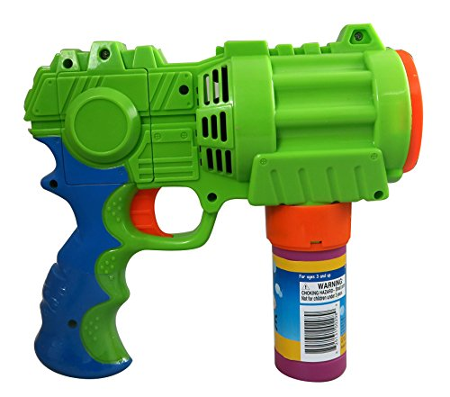 PROUDLY PRESENTS BY RAINBOW BUBBLES Bubble Blaster (Automatic Bubble Gun w/ 1 Bubble Solution in Gift Box), Party Hurray