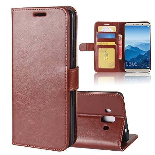 XMTN Huawei Honor 6C Pro,Huawei Honor V9 Play 5.2' Custodia,Premio PU Custodia in Pelle con Wallet Case Cover per Huawei Honor 6C Pro,Huawei Honor V9 Play Smartphone (Marrone)
