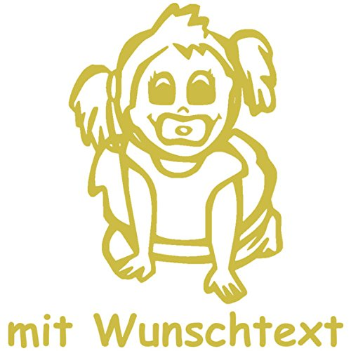 XL Babyaufkleber mit Name/Wunschtext - Motiv 532 (25 cm)