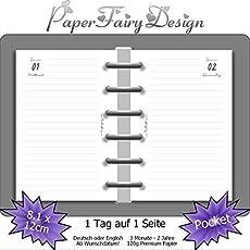 120g Premium Papier Blank 10.5cm x 14.8cm - 1 Tag auf 1 Seite DIN A6 Kalendereinlagen 2020