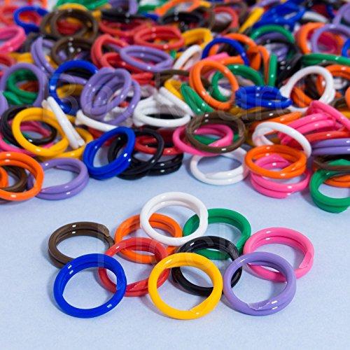 30 unidades de anillos en espiral para pollo, aves de corral, tamaño 11 11/16 pulgadas, colores variados