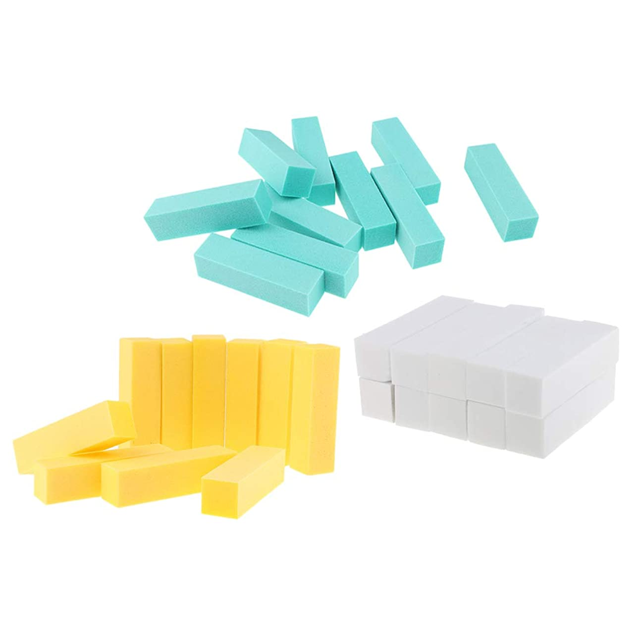 Toygogo 30pcsネイルバッファースポンジサンディングブロックマニキュアネイルアートヒントツール