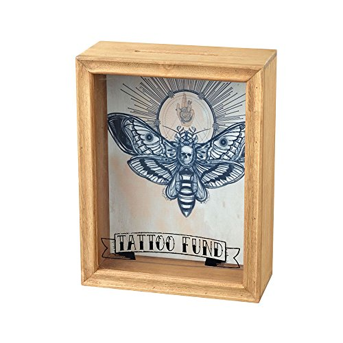 Hucha de cristal tal con marco, diseño de Tatto Fund