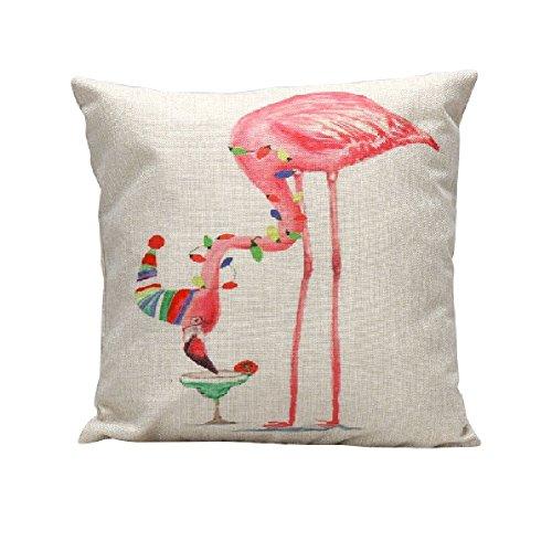 Jgartstore Bird Flamingo N55 Coton Lin confortable Taie d'oreiller 45,7 x 45,7 cm