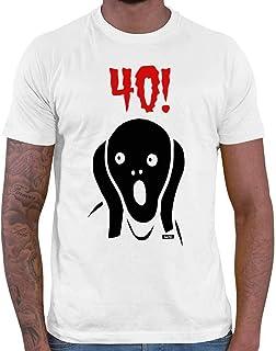 Hariz – Camiseta de manga corta para hombre, diseño de 40 cumpleaños