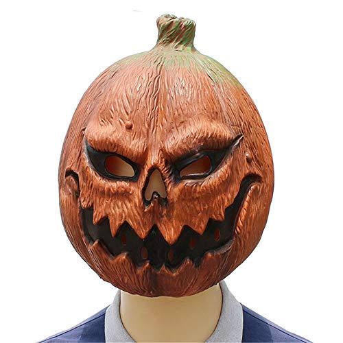 KLJJQAQ Halloween Pompoen Hoofd Masker Horror Grappig Gezicht Latex Dans Feestjurk Speelt Decoratie Cos Ghost Festival Props