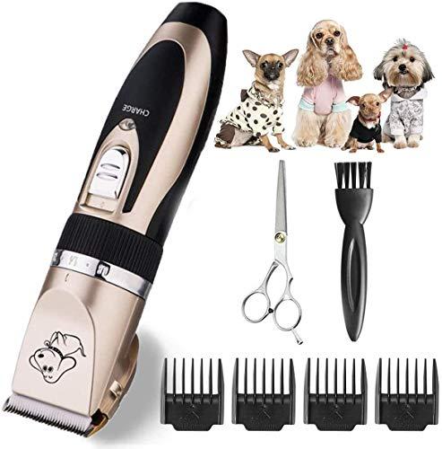 Cortapelos para Perros, Cortadores de pelo de Mascotas, Recargables, para Mascotas Pequeñas Medianas y Grandes