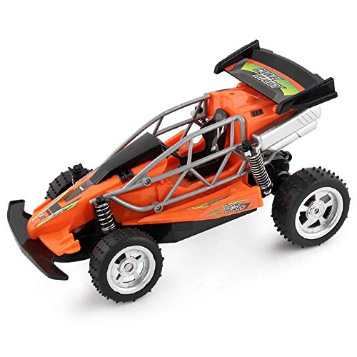 Lecez Rechargeable Remote Control Car, Simulation Children's Four-way Model Off-road Mountain Bike Model Toy Adapts to Various Terrains, Red, Green, 24×14.5×13.5cm (Color : Red)