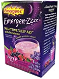 Emer'gen-C Night Time Sleep Aid Supplements, Berry, 8 Count