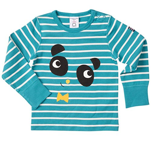 Polarn O. Pyret Anniversary Label ECO Panda TOP (Baby) - 9-12 Months/Biscay Bay