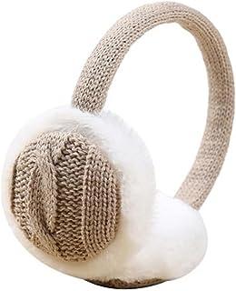 Liwwqisqet سماعات الأذن، الرجال النساء الخريف الشتاء الدافئ أفخم محبوك غطاء الأذن، اكسسوارات الشتاء تدفئة الأذن (اللون: كاكي)