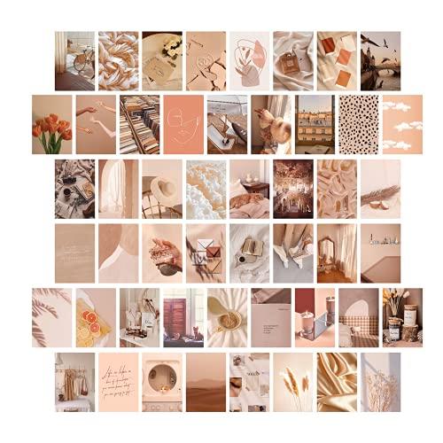 VSCO Girl, 50 stuks premium wandcollages, collage, opdruk, beige, 10 x 15 cm, voor woonkamer, fotoverzameling…