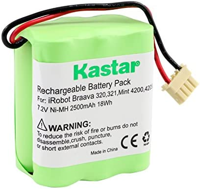 Kastar BRAAVA320 Battery 1 Pack Ni MH 7 2V 2500mAh Replacement for iRobot Braava 320 iRobot product image
